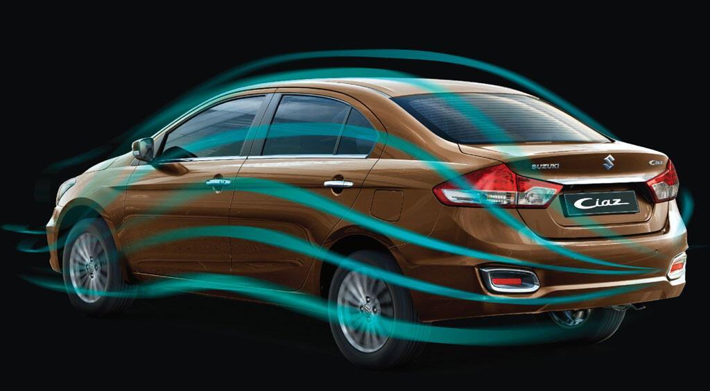 Thiết kế tăng hiệu năng khí động học của Suzuki Ciaz Mới